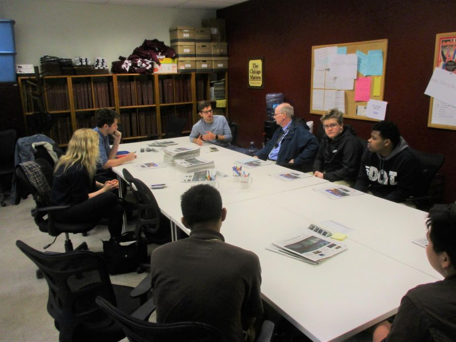 In previous years, the Caravan writers have met with The Chicago Maroon editors. This meeting at the University of Chicago was held April 11, 2019.
