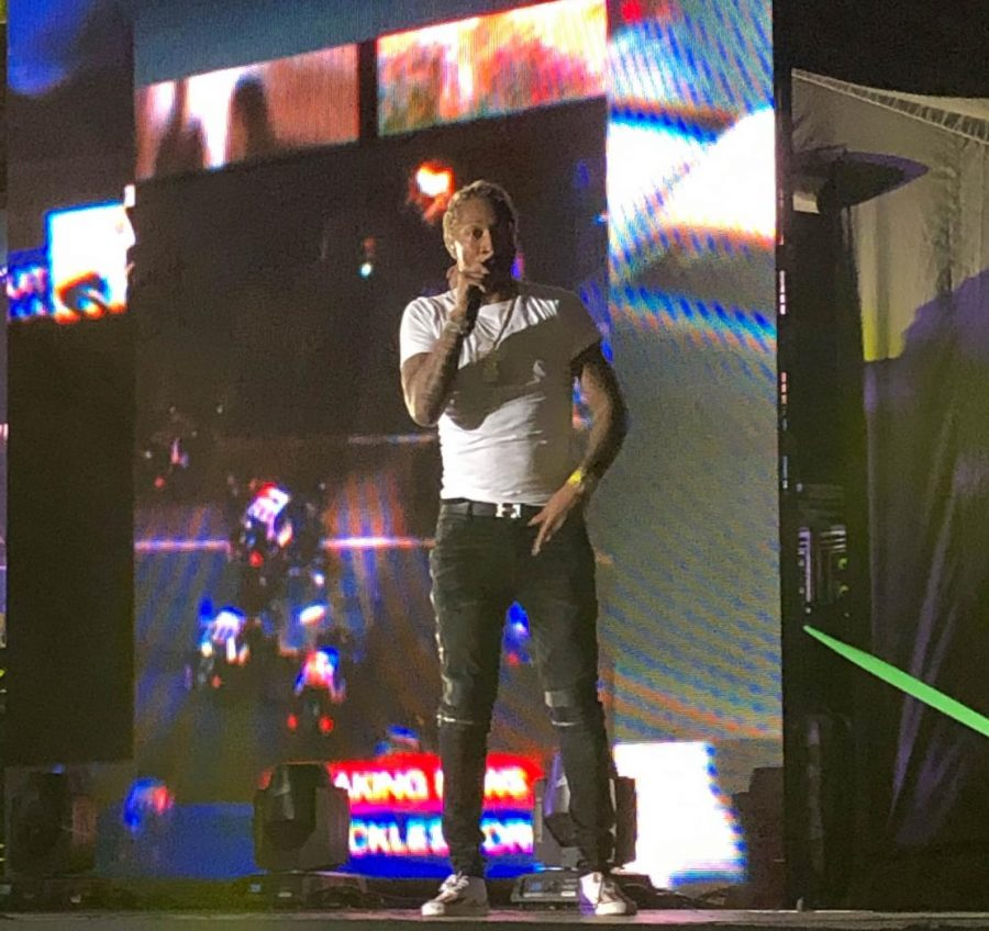 Music artist Future performing at the Hollywood Casino Amphitheater in Tinley Park Illinois.