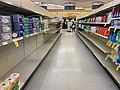 Grocery stores shelves stay stocked due to the hard work of essential workers. (Photo credit: photographer unknown; Wikimedia Commons via Creative Commons license.)