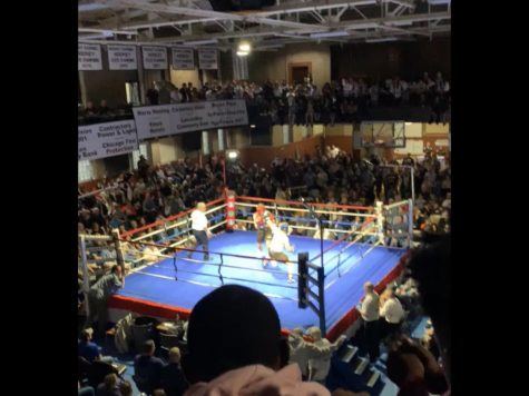 The huge crowd at Fight Night '19 was filled with energy.