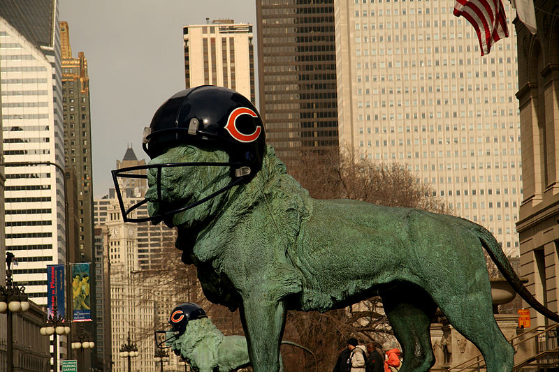 The Bears may be the kings of Chicago sports, but lately all the pro teams have generated interest.  (Photo credit:  Senor Codo via Wikimedia Commons under Creative Commons LIcense)