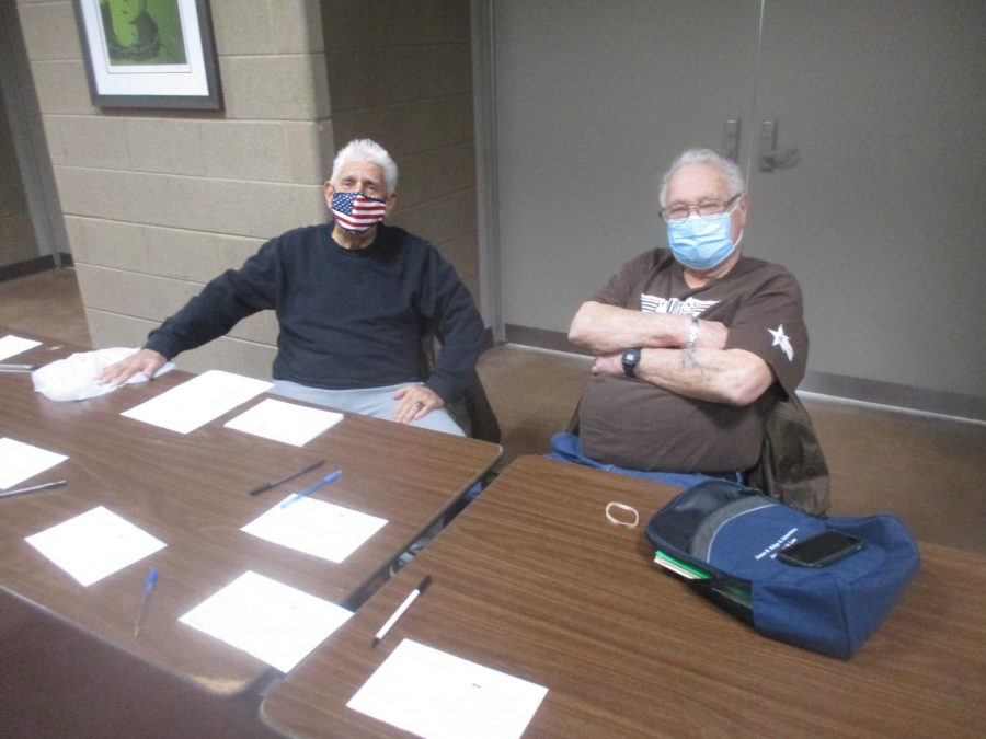 Rocco Megaro (left) and Jack Riffice are long time coachs of the intramural boxing club at MC