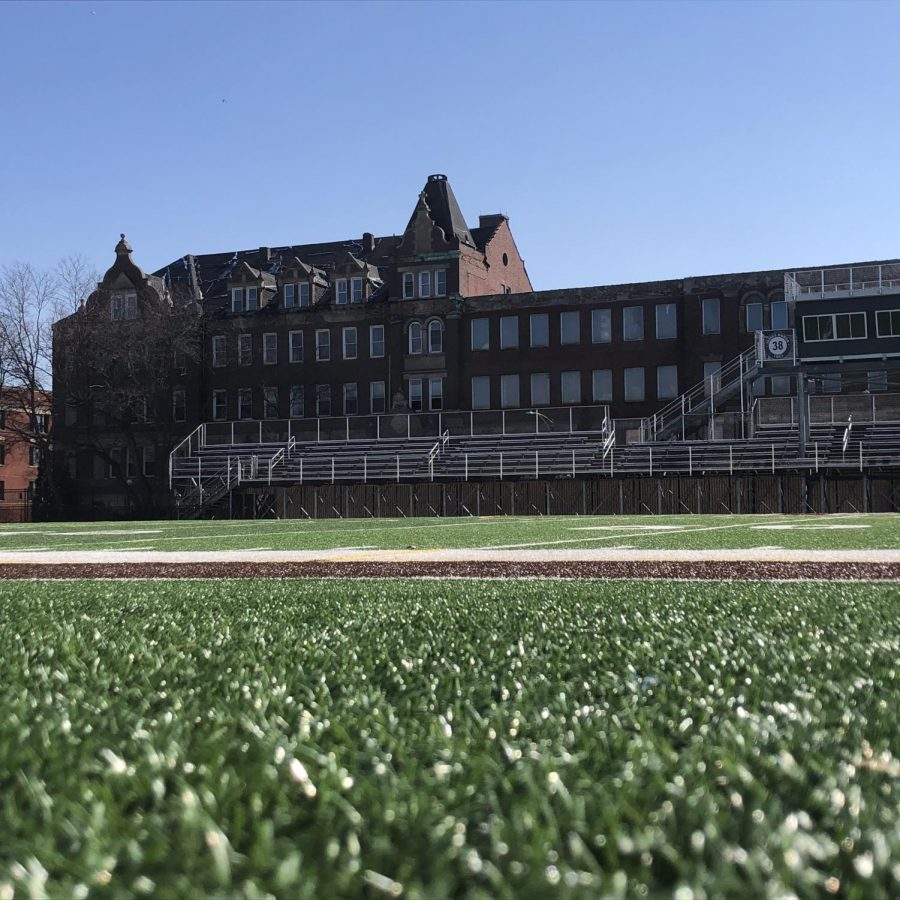The once-impressive Loretto Academy building presently is unoccupied and in disrepair.