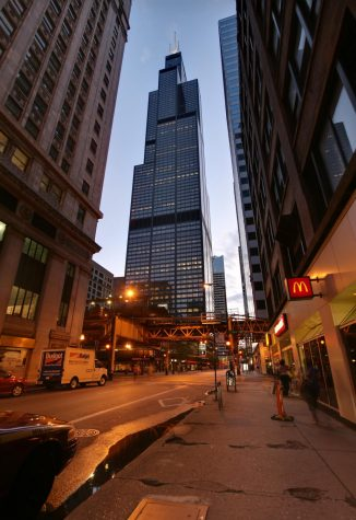 Willis Tower is one of many well known Chicago landmarks to have undergone a name change.  Photo credit: Daniel Schwen via Wikimedia Commons under Creative Commons License.