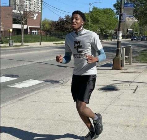 Me, Blayr Young, at the final stretch of the walk-a-thon