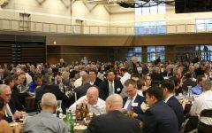 MC alums have many gatherings including luncheons at MC. Among the many loyal alums of Mount Carmel is Jack Clancy 38.