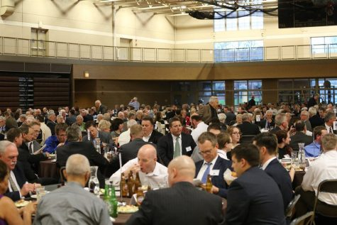 MC alums have many gatherings including luncheons at MC. Among the many loyal alums of Mount Carmel is Jack Clancy
