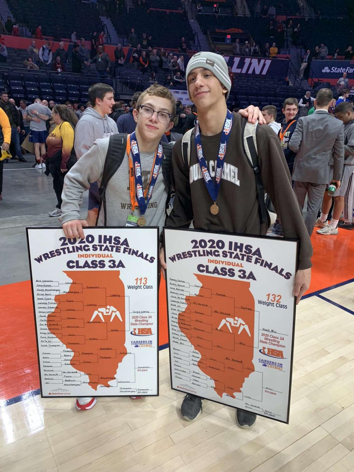 Me winning a state title with my former teammate Sergio Lemley last year, 2020.