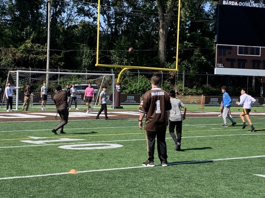 Students are back in action in intramural football.