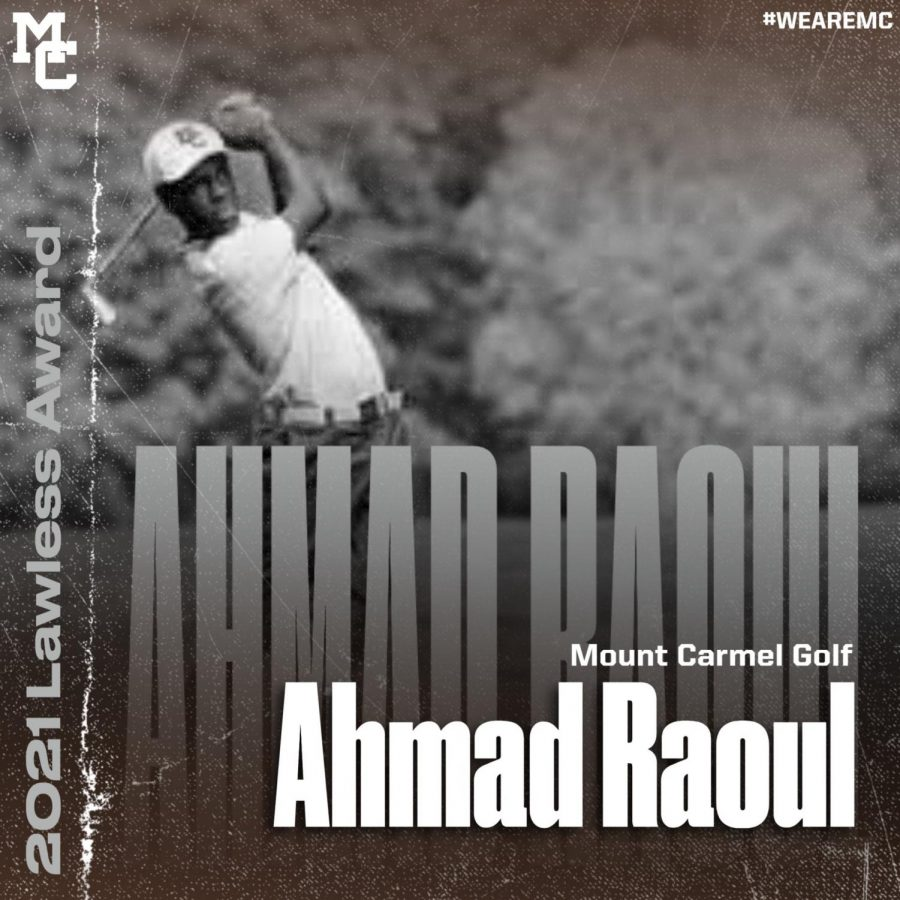Ahmad Raoul is the most recent recipient of the Lawless Award, winning the prestigious award in Golf.